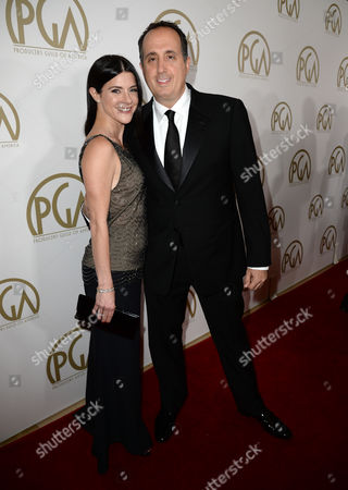 Maia Suckle and Richard Suckle arrive at the 25th annual Producers Guild of America (PGA) Awards at the Beverly Hilton Hotel, in Beverly Hills, Calif