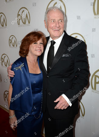 Susan Ekins and Jerry Weintraub arrive at the 25th annual Producers Guild of America (PGA) Awards at the Beverly Hilton Hotel, in Beverly Hills, Calif