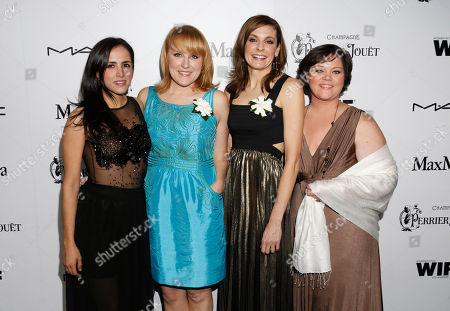 Vanessa Bergonzoli, Robin Honan, Cynthia Wade and Cambria Russell attend the 6th Annual Women in Film Pre-Oscar cocktail party at Fig and Olive on in Los Angeles