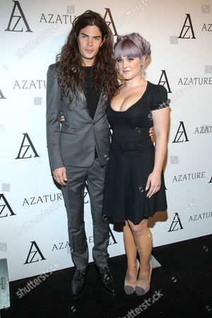 TV personality Kelly Osbourne and fiance Matthew Mosshart arrive at The Black Diamond Affair at the Sunset Tower Hotel on in West Hollywood, Calif