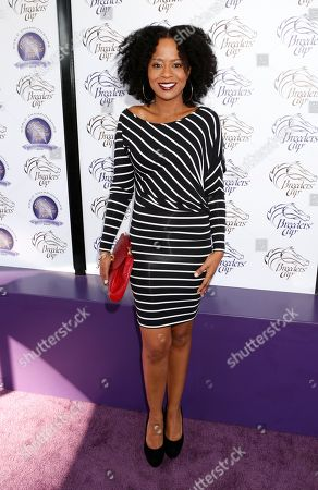 IMAGE DISTRIBUTED FOR BREEDERS' CUP - Tempestt Bledsoe is seen on Day 2 of the Breeders' Cup World Championships, in Arcadia, Calif