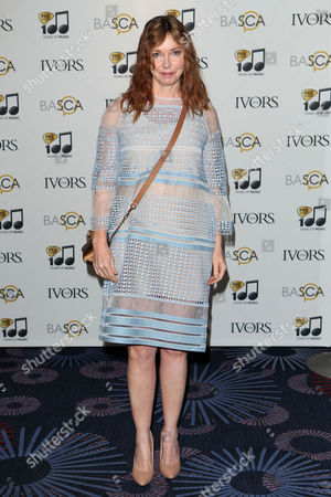 Cathy Dennis arriving for the 59th Ivor Novello Awards, at the Grosvenor House Hotel, London, on . Photo by Mark Allan /Invision/AP