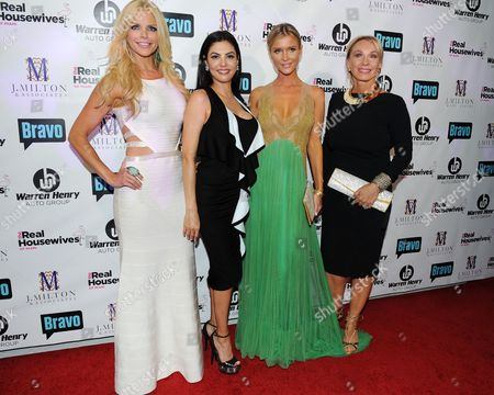 Alexia Echeverria, Adriana De Moura,Joanna Kruppa and Leah Black attend Bravo Televisions' The Real Housewives of Miami' Season 3 premiere party on in Miami, Florida