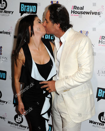 Stock Photo of Frederic Marq Adriana De Moura and Frederick Marq attend Bravo Televisions' The Real Housewives of Miami' Season 3 premiere party on in Miami, Florida