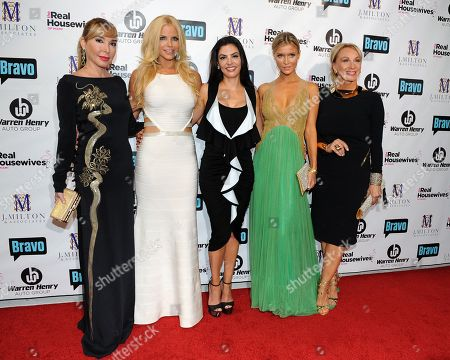 Stock Picture of Maryisol Patton, Alexia Echeverria, Adriana De Moura,Joanna Kruppa and Leah Black attend Bravo Televisions' The Real Housewives of Miami' Season 3 premiere party on in Miami, Florida