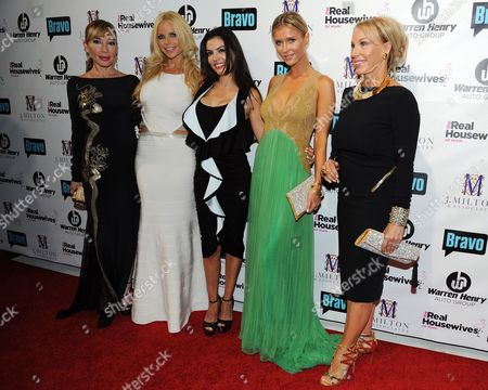 Maryisol Patton, Alexia Echeverria, Adriana De Moura,Joanna Kruppa and Leah Black attend Bravo Televisions' The Real Housewives of Miami' Season 3 premiere party on in Miami, Florida