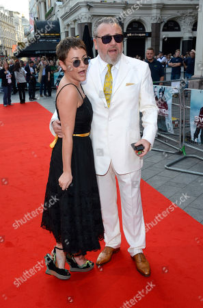 Jamie Winstone, Ray Winstone poses at The Sweeney UK Premiere at Vue West End on in London