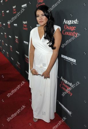 """Misty Upham arrives at The Weinstein Company's Los Angeles premiere of """"August: Osage County"""" in partnership with Bombardier at Regal Cinemas L.A. Live on"""