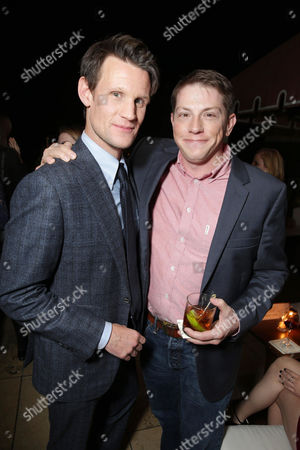 Matt Smith and Author Seth Grahame-Smith seen at The World Premiere of Screen Gems' 'Pride and Prejudice and Zombies' at Harmony Gold, in Hollywood, CA