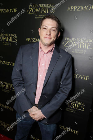 Author Seth Grahame-Smith seen at The World Premiere of Screen Gems' 'Pride and Prejudice and Zombies' at Harmony Gold, in Hollywood, CA