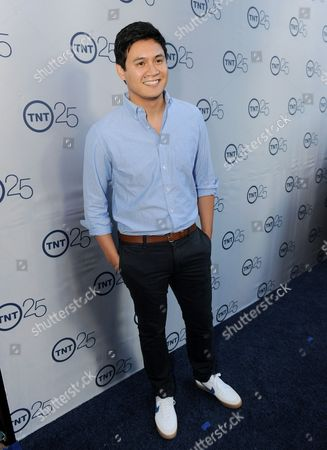 Stock Picture of Rene Gube arrives at the TNT 25th Anniversary Party on at The Beverly Hilton in Beverly Hills, Calif