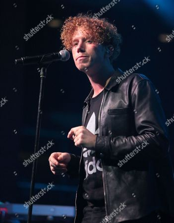 Stock Image of Singer-songwriter Erik Hassle performs in concert at The Fillmore, in Philadelphia