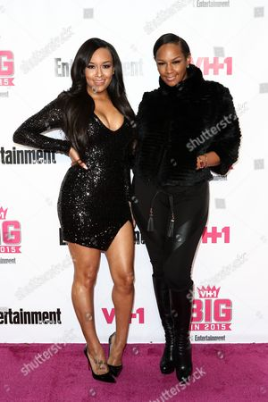 Chantel Christie, left, and Jackie Christie attend the VH1 Big In 2015 with Entertainment Weekly Award Show held at the Pacific Design Center, in West Hollywood, Calif