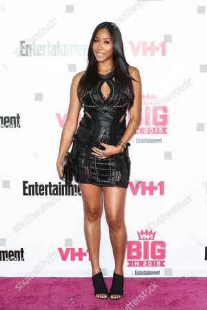 Apryl Jones attends the VH1 Big In 2015 with Entertainment Weekly Award Show held at the Pacific Design Center, in West Hollywood, Calif