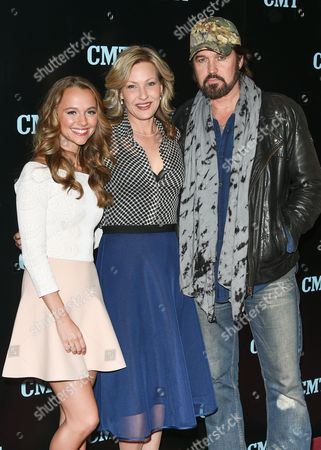 "Actors Madison Iseman, left, Joey Lauren Adams and Billy Ray Cyrus from the show ""Still The King"", attend the Viacom Kids and Family Group Upfront event at Jazz at Lincoln Center's Frederick P. Rose Hall, in New York"