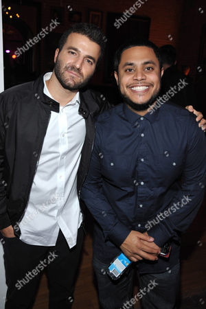 Stock Photo of David Katzenberg, left, and Anthony Saleh attend VIBE 2nd annual pre-Grammy Impact Awards, on in Los Angeles