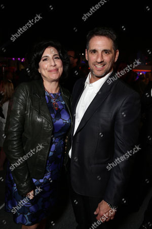 """Sue Kroll, President of Worldwide Marketing and International Distribution at Warner Bros. Pictures, and Producer Stephen Levinson seen at Warner Bros. Premiere of """"Entourage"""" held at Regency Village Theatre, in Westwood, Calif"""