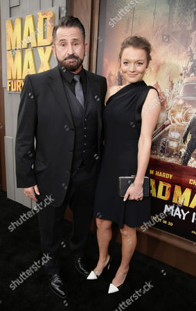 """Anthony LaPaglia and Gia Carides seen at the Warner Bros. premiere of """"Mad Max: Fury Road"""", in Los Angeles"""