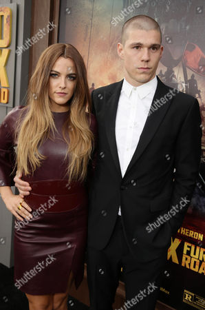"""Riley Keough and Ben Smith-Petersen seen at the Warner Bros. premiere of """"Mad Max: Fury Road"""", in Los Angeles"""