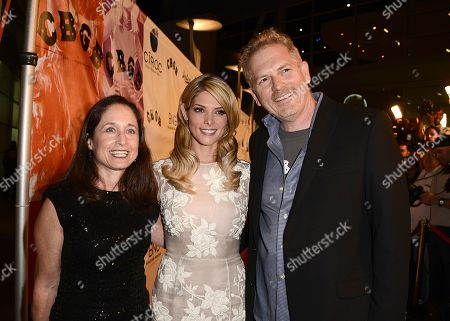 "From left to right, writer Jody Savin, actress Ashley Greene and director Randall Miller arrive on the red carpet at the West Coast special screening of ""CBGB"" at the ArcLight Hollywood on in Los Angeles"