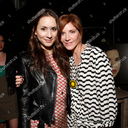 Troian Bellisario, left, and Melinda McGraw attend the WIGS One Year Anniversary Party on in Culver City, CA