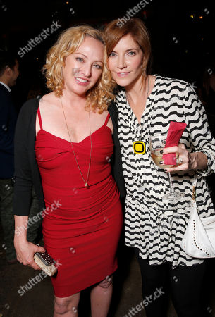 Virginia Madsen and Melinda McGraw attend the WIGS One Year Anniversary Party on in Culver City, CA