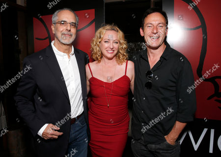 WIGS co-creator Jon Avnet, Virginia Madsen and Jason Isaacs attends the WIGS One Year Anniversary Party on in Culver City, CA