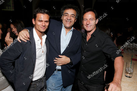 Jay Rodan, WIGS co-creator Rodrigo Garcia and Jason Isaacs attend the WIGS One Year Anniversary Party on in Culver City, CA