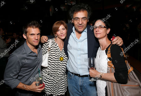 Steve Pierson, Melinda McGraw, Rodrigo Garcia and wife attend the WIGS One Year Anniversary Party on in Culver City, CA