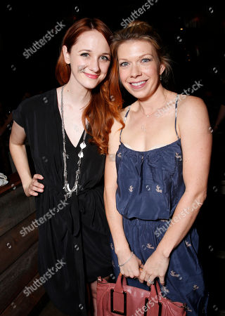 Laura Spencer, left, and Mary Elizabeth Ellis attend the WIGS One Year Anniversary Party on in Culver City, CA