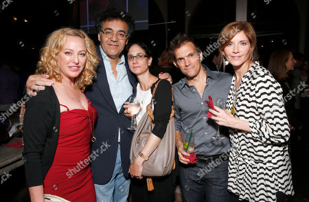 Virginia Madsen, Rodrigo Garcia and wife, Steve Pierson and Melinda McGraw attend the WIGS One Year Anniversary Party on in Culver City, CA