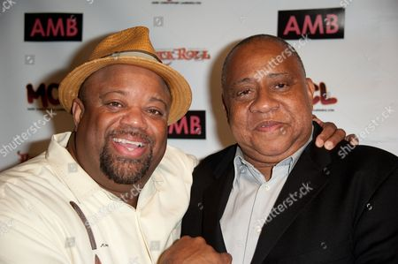 Mark Christopher Lawrence, left, and Barry Shabaka Henley attend WordTheatre presents Storytales at FordAmphitheatre on Saturday, Oct, 6, 2012, in Los Angeles, California