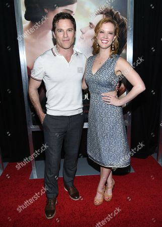 """Actors Mike Doyle and Patti Murin attend the world premiere of """"Me Before You"""" at AMC Loews Lincoln Square, in New York"""