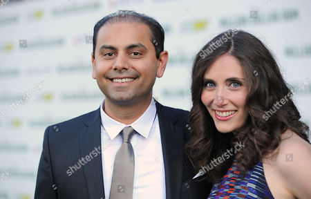 """Stock Image of Palak Patel, left, and Juliana Patel arrive at the world premiere of """"Million Dollar Arm"""" at El Capitan Theatre, in Los Angeles"""