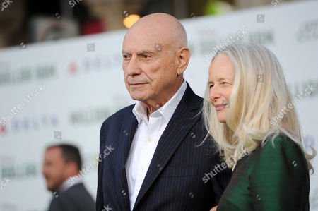 """Alan Arkin, left, and Suzanne Newlander Arkin arrive at the world premiere of """"Million Dollar Arm"""" at El Capitan Theatre, in Los Angeles"""