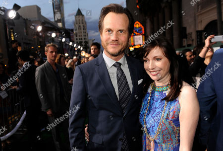 "Bill Paxton, left, and Louise Newbury arrive at the world premiere of ""Million Dollar Arm"" at El Capitan Theatre, in Los Angeles"