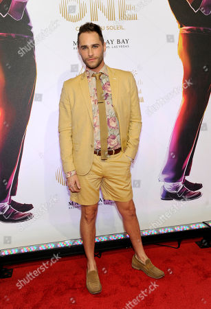"""Stock Picture of Singer Josh Strickland arrives at the world premiere of """"Michael Jackson ONE"""" at THEhotel at Mandalay Bay Resort and Casino on in Las Vegas"""