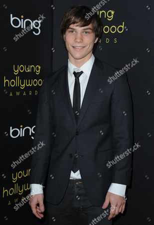 Nick Krause arrives at the Young Hollywood Awards at the Hollywood Athletic Club on in Los Angeles