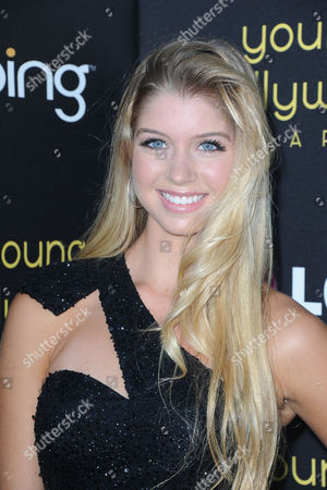 Stock Picture of Allie DeBerry arrives at the Young Hollywood Awards at the Hollywood Athletic Club on in Los Angeles