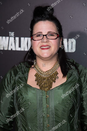 "Ann Mahoney attends AMC's ""The Walking Dead"" season six premiere fan event at Madison Square Garden, in New York"