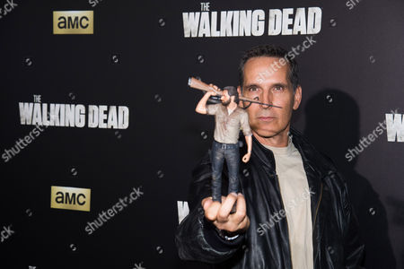 """Todd McFarlane attends AMC's """"The Walking Dead"""" season six premiere fan event at Madison Square Garden, in New York"""