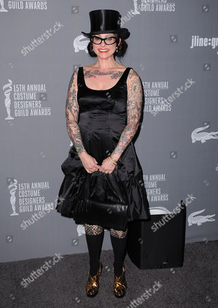 Julie Vogel arrives at the 15th Annual Costume Designers Guild Awards at The Beverly Hilton Hotel on in Beverly Hills