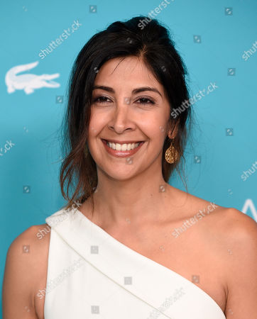 Johanna Argan arrives at the 17th Costume Designers Guild Awards at the Beverly Hilton Hotel, in Beverly Hills, Calif