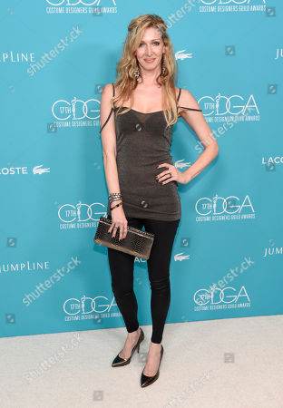 Kelli Jones arrives at the 17th Costume Designers Guild Awards at the Beverly Hilton Hotel, in Beverly Hills, Calif