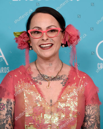 Stock Picture of Julie Vogel arrives at the 17th Costume Designers Guild Awards at the Beverly Hilton Hotel, in Beverly Hills, Calif