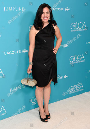 Jacqueline Mazarella arrives at the 17th Costume Designers Guild Awards at the Beverly Hilton Hotel, in Beverly Hills, Calif