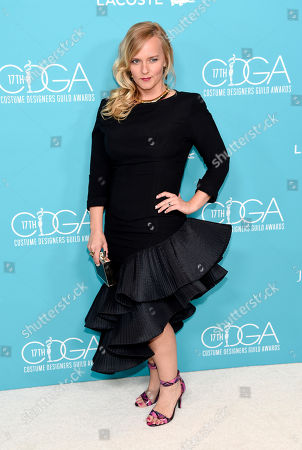 Stock Picture of Tiffany White Stanton arrives at the 17th Costume Designers Guild Awards at the Beverly Hilton Hotel, in Beverly Hills, Calif