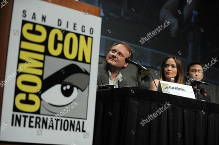 "Rian Johnson, Emily Blunt and Joseph Gordon-Levitt attend the ""Looper"" panel at Comic-Con on in San Diego, Calif"