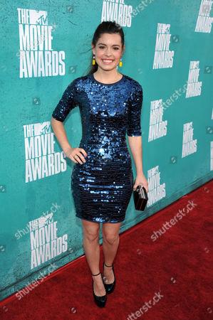 Alex Frnka arrives at the 2012 MTV Movie Awards on in Los Angeles