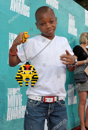 Stock Picture of Lil Niqo arrives at the 2012 MTV Movie Awards on in Los Angeles